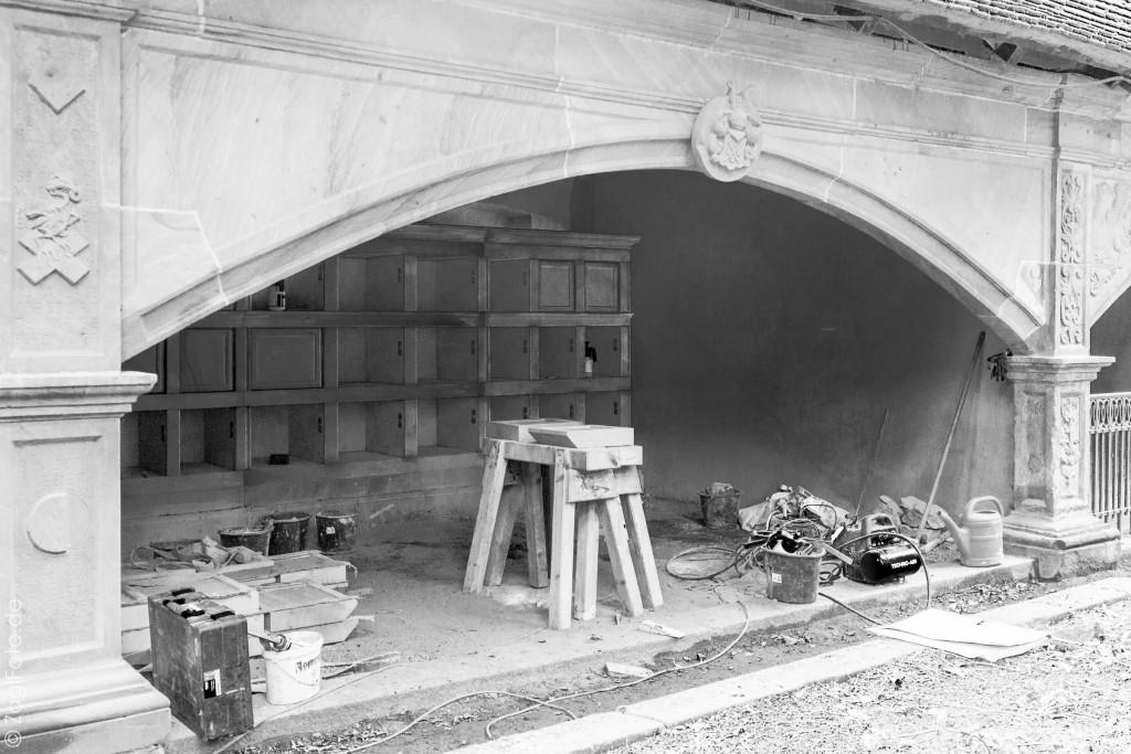 Gruft 66 - Neubau eines Kolumbariums  - Abb. kurz vor Fertigstellung